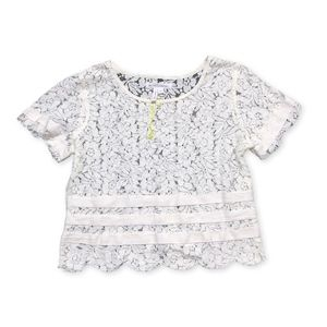😍 NWOT White Lace Crop Blouse by BCBGeneration!
